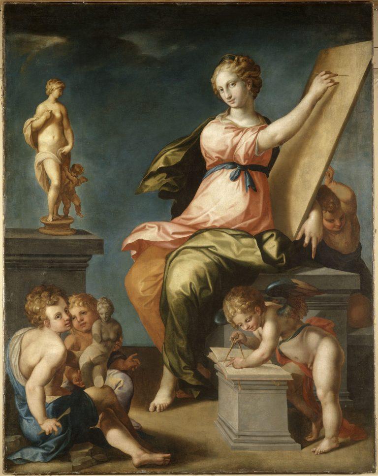 Allégorie de la Peinture et de la Sculpture - château de Fontainebleau