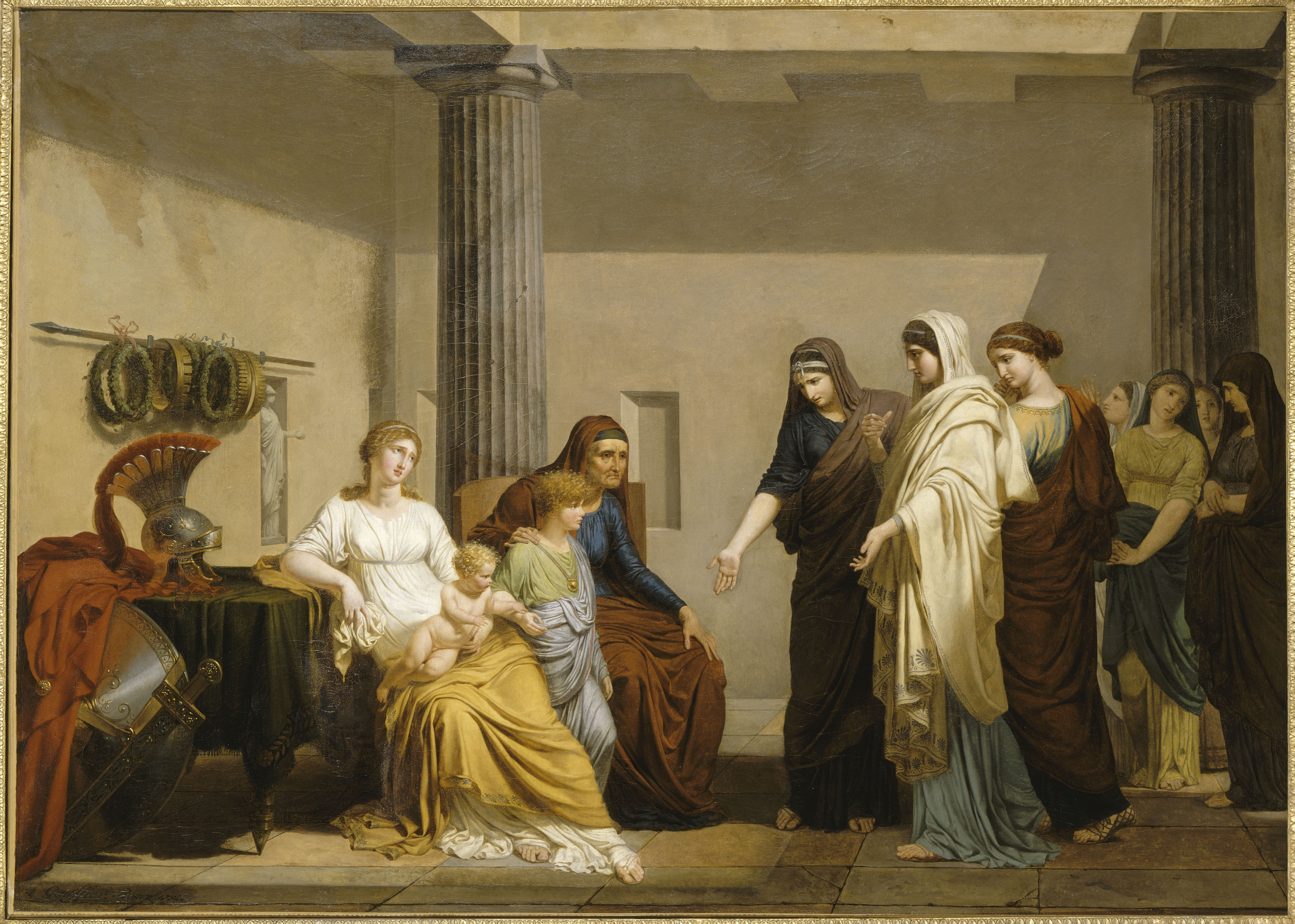 Roman Ladies Plead With the Coriolan Family - Château de Fontainebleau © RMN Grand Palais