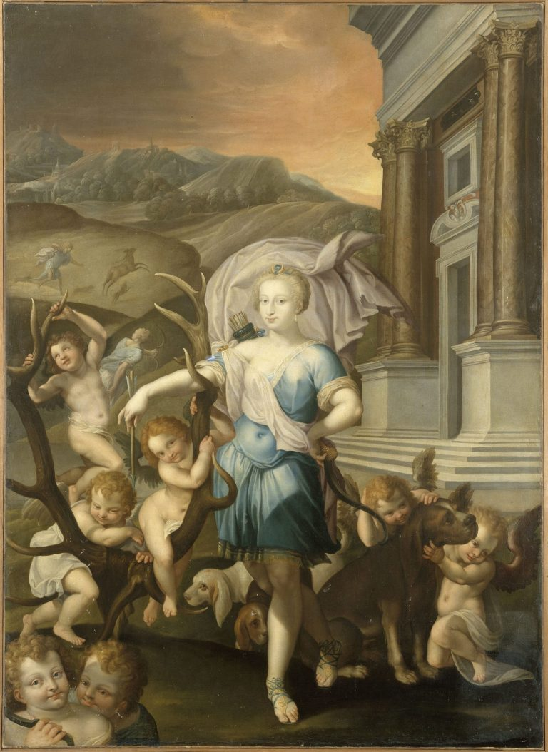 Gabrielle d'Estrées en Diane chasseresse - château de Fontainebleau
