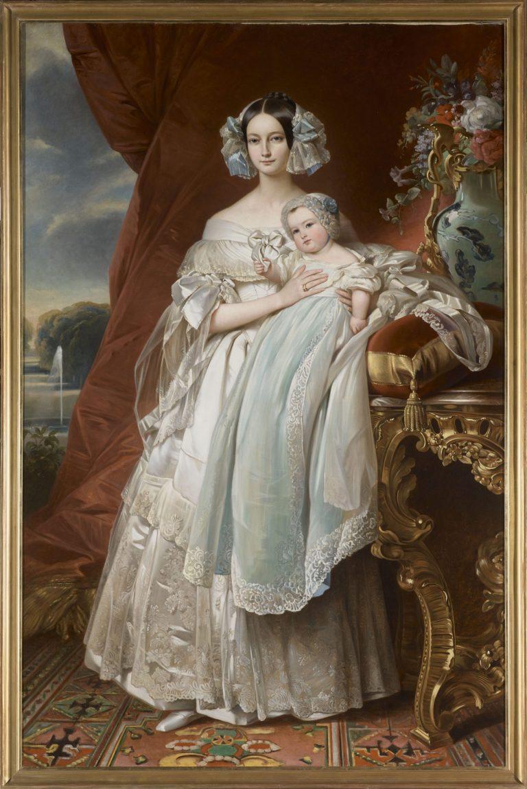 Hélène-Louise de Mecklembourg-Schwerin duchesse d'Orléans et son fils - château de Fontainebleau