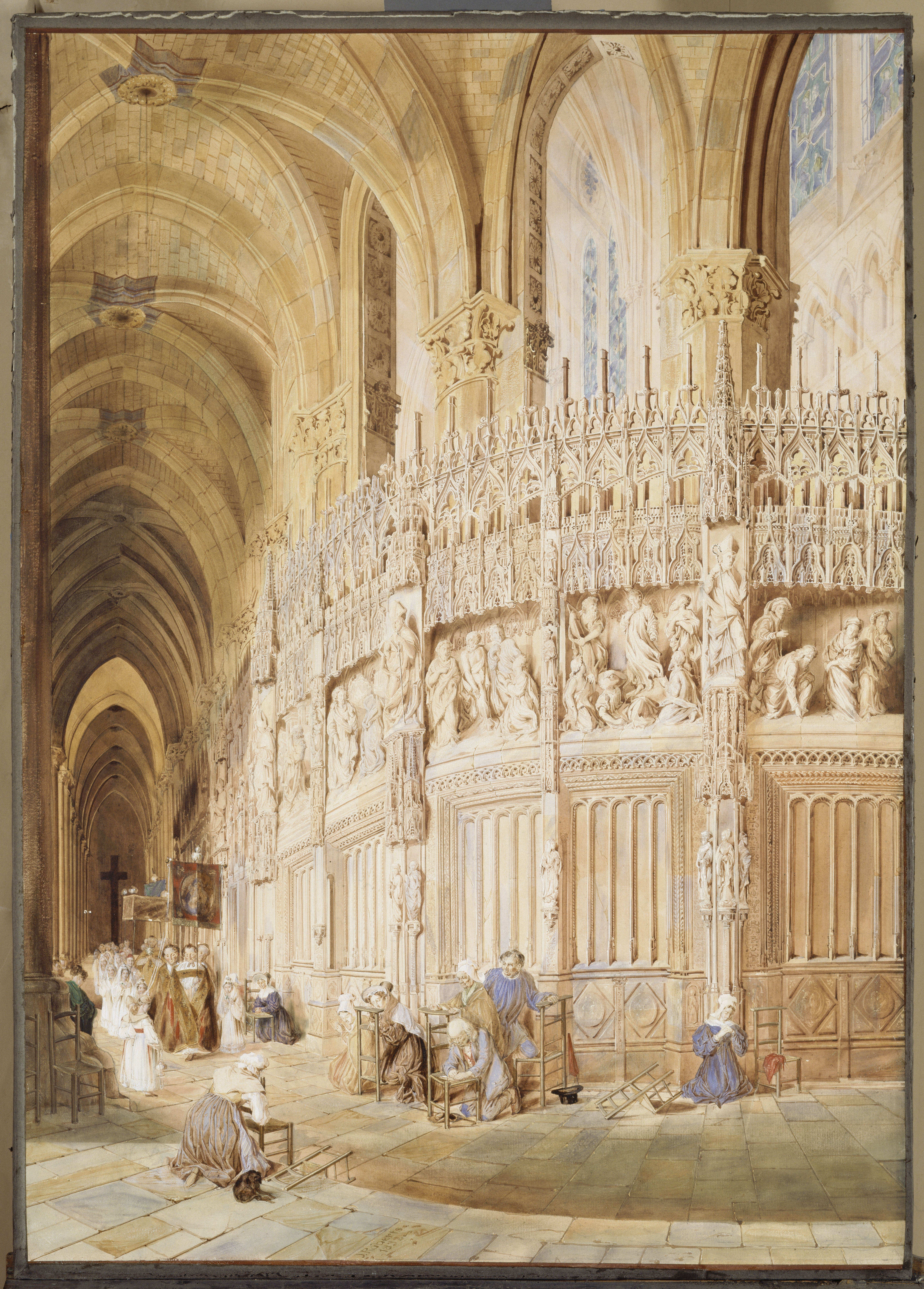 Interior of Chartres Cathedral - château de Fontainebleau - © RMN Grand Palais