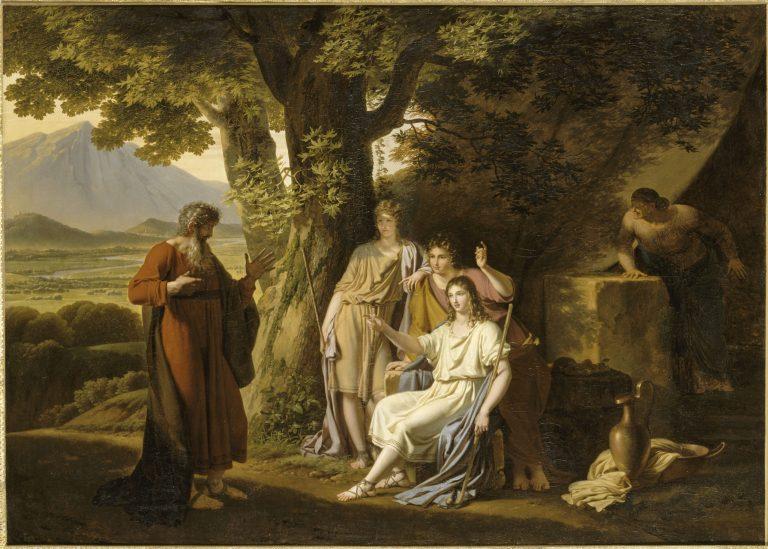 L'Apparition des anges à Abraham- château de Fontainebleau