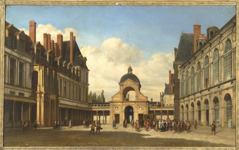 La cour Ovale - château de Fontainebleau