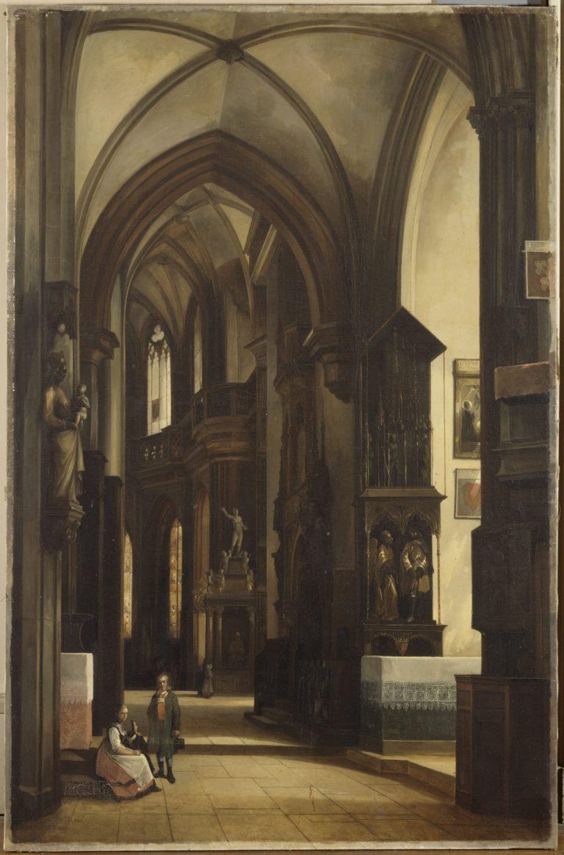 Vue de l'église Saint-Laurent de Nuremberg- château de Fontainebleau
