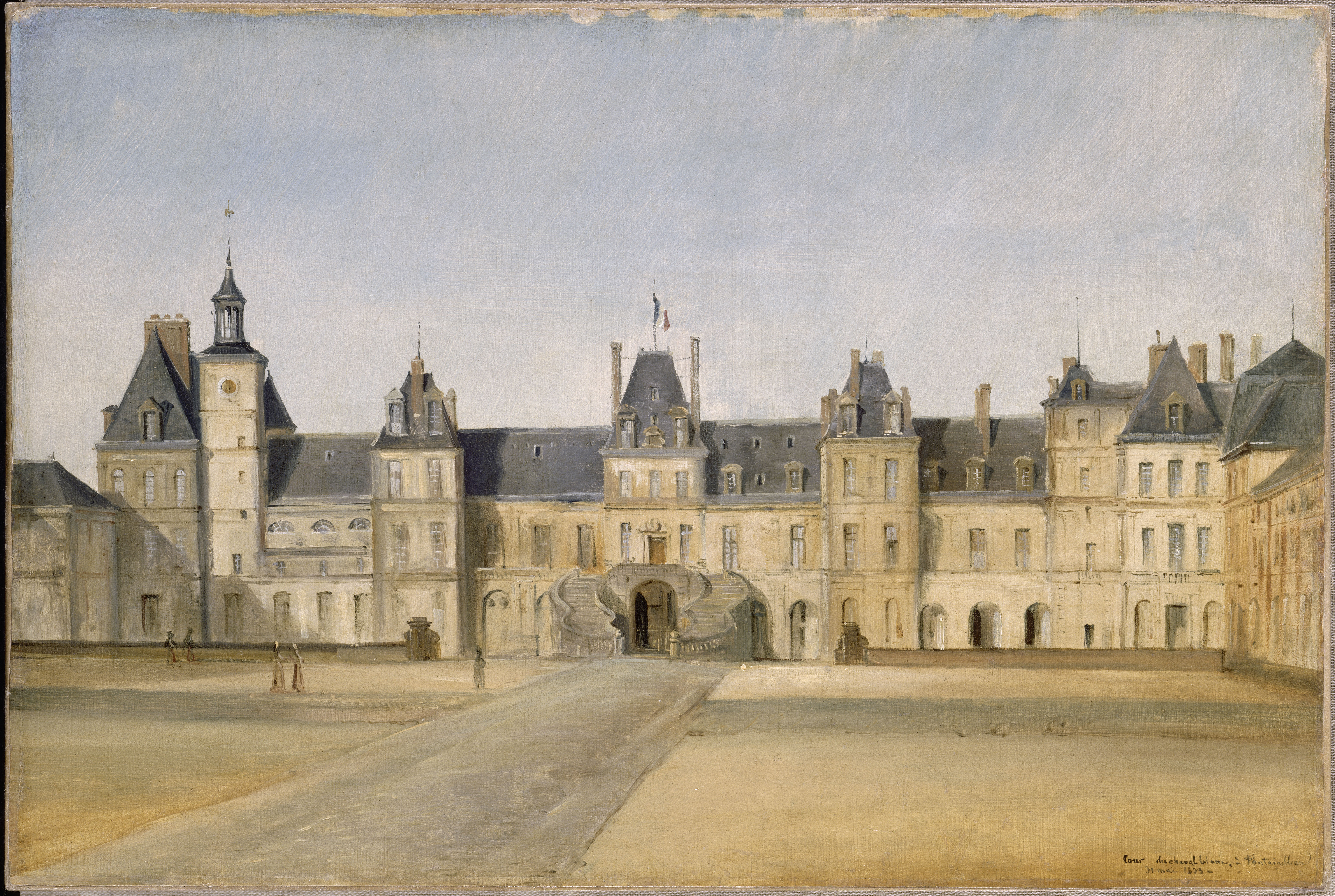 View of the Château de Fontainebleau from the White Horse Courtyard - château de Fontainebleau - © RMN Grand Palais