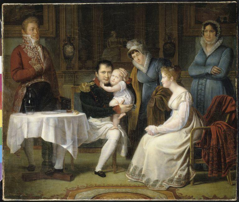 Marie-Louise portant le roi de Rome à Napoléon Ier pendant le repas de l'empereur