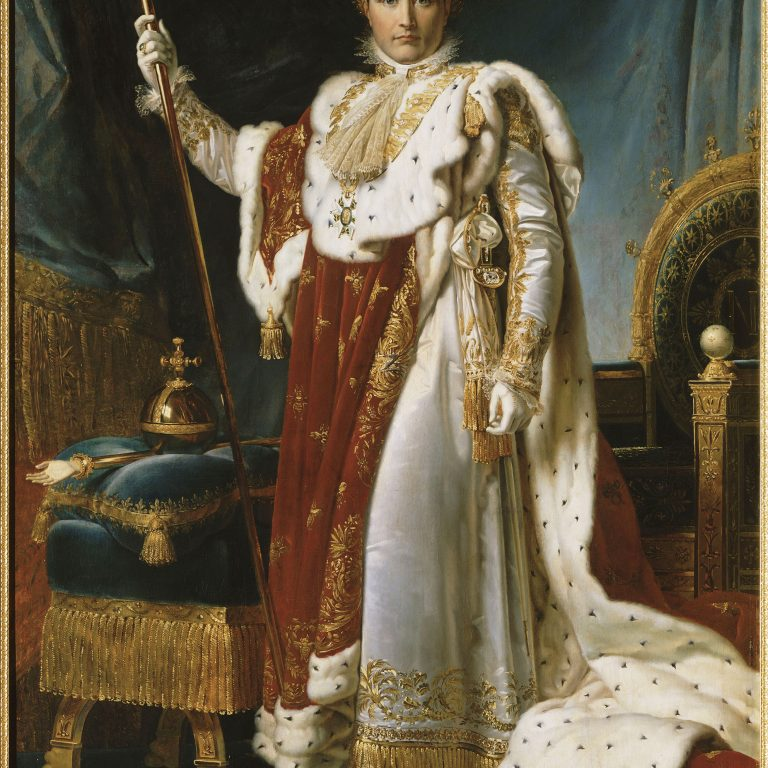 Napoleon I in his coronation robes. GERARD, Baron François (1770 - 1837)