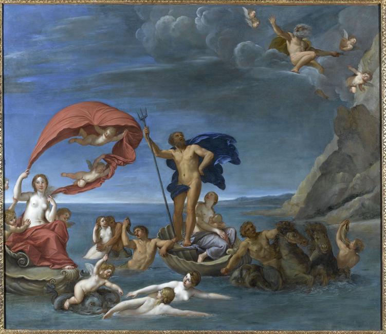 Allégorie du monde marin de l'Albane au château de Fontainebleau