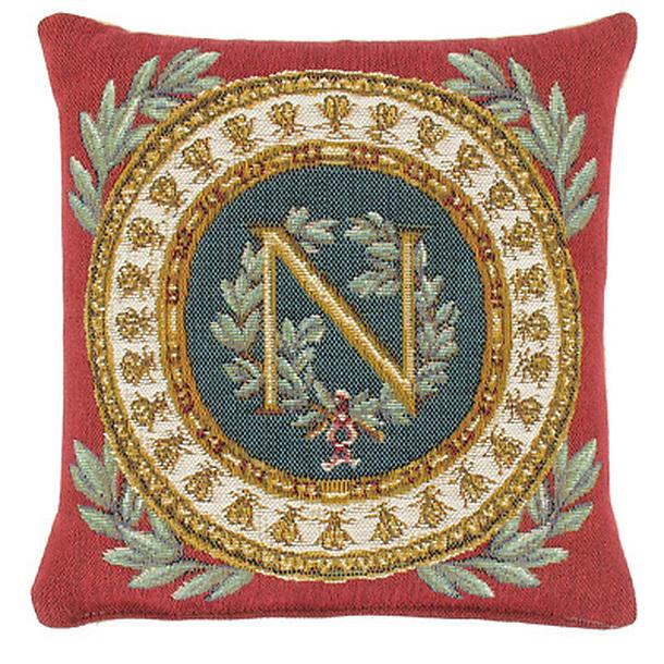 Coussin carré «Napoléon» Fond Rouge