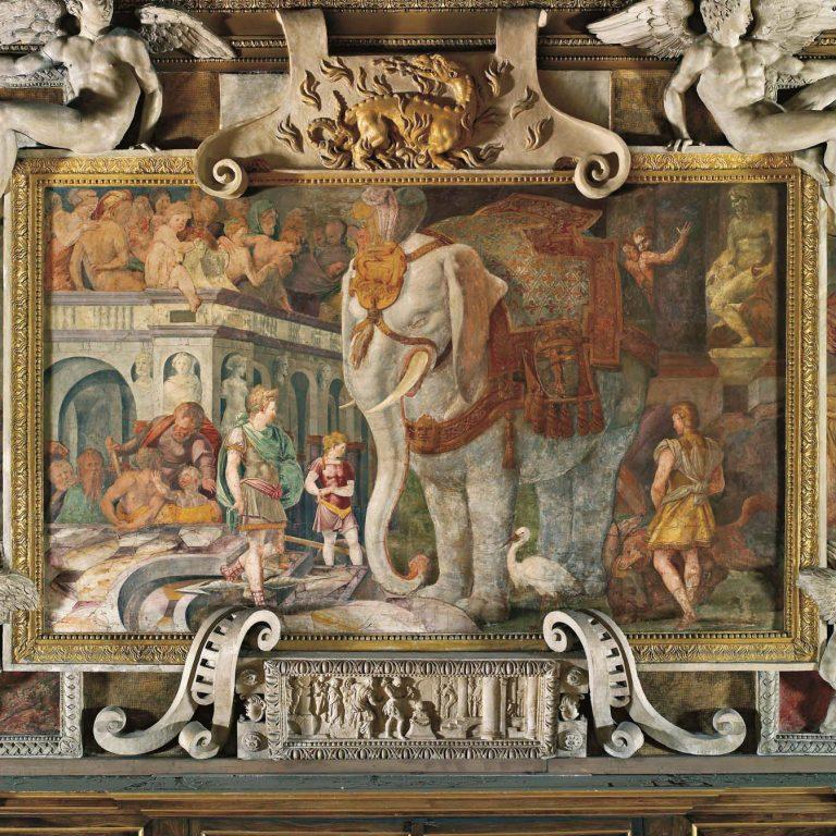 Peinture de la galerie François Ier du château de Fontainebleau