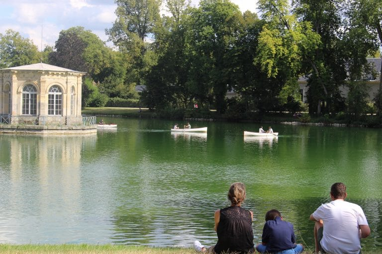 Canotage dans les jardins du château de Fontainebleau