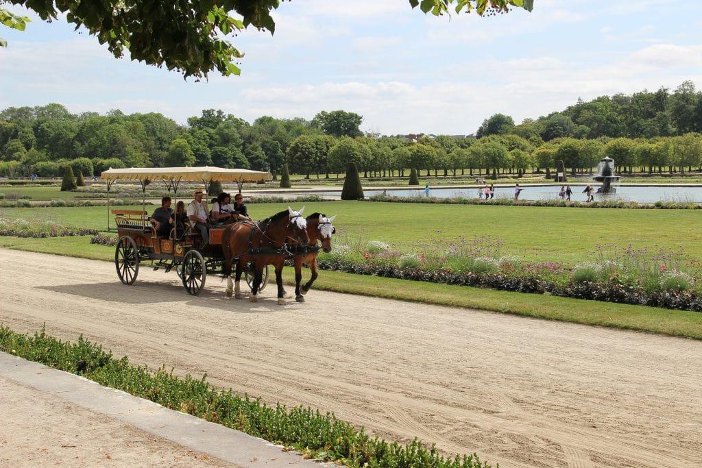 Катание в коляске по садам дворца Фонтенбло