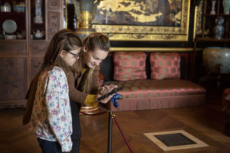 Histopad dans le musée Chinois du château de Fontainebleau