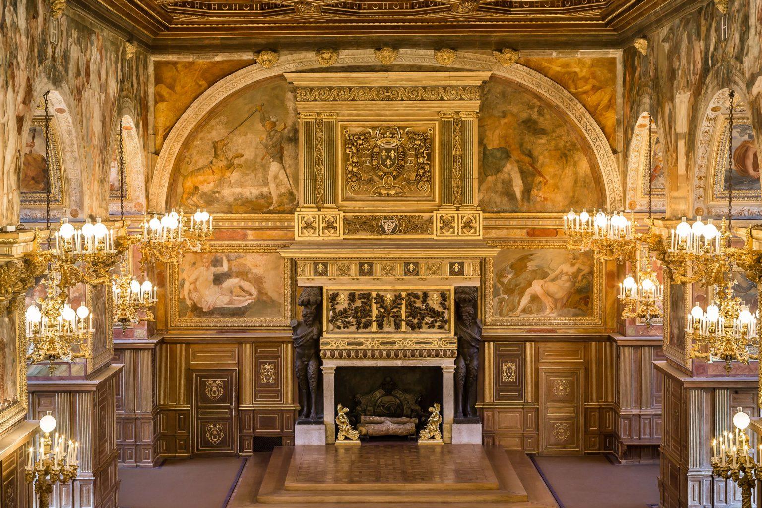 Détail de la Salle de Bal du château de Fontainebleau