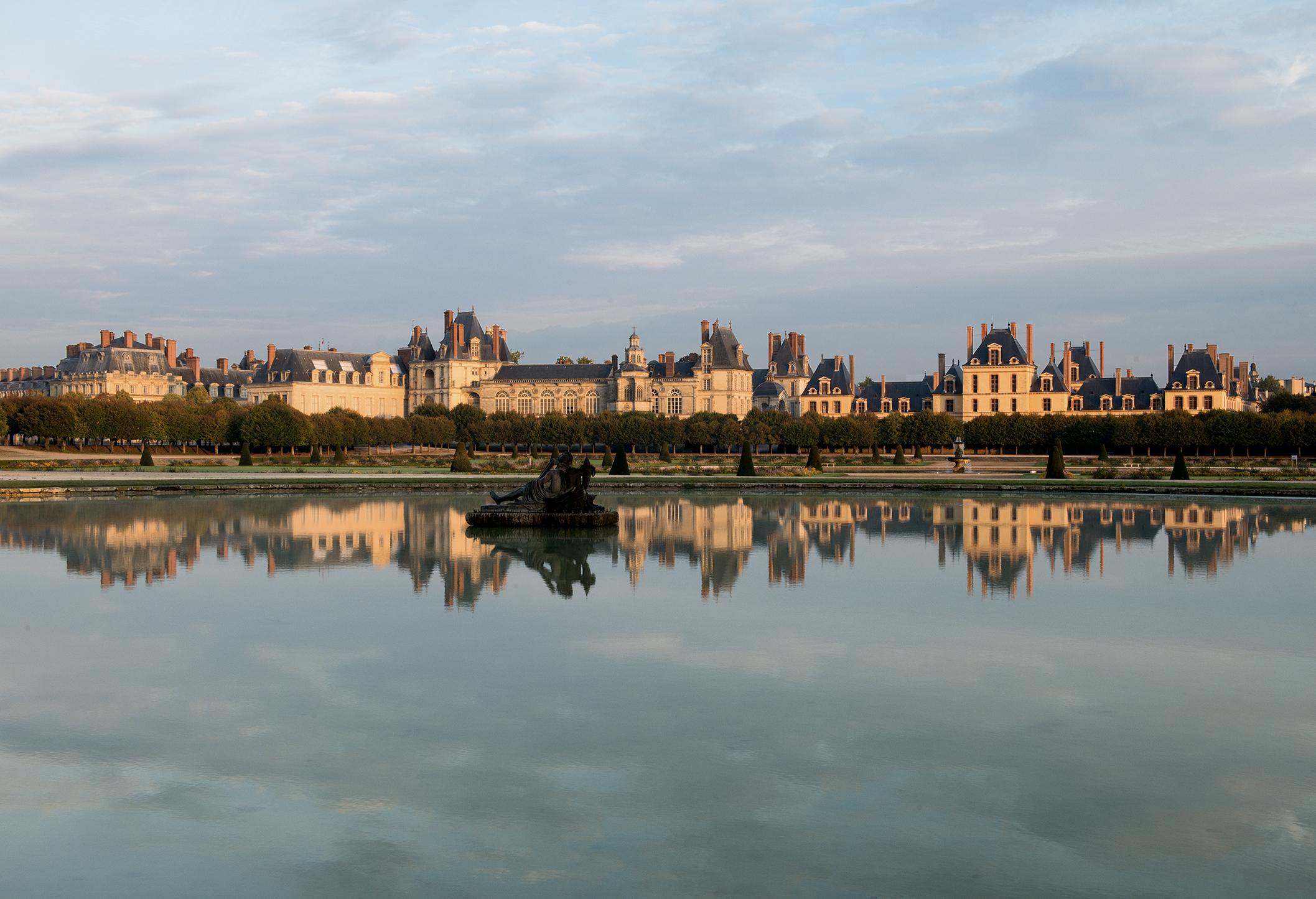 Château de Fontainebleau, vue du Grand Parterre