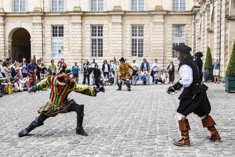 Escrime au château de Fontainebleau