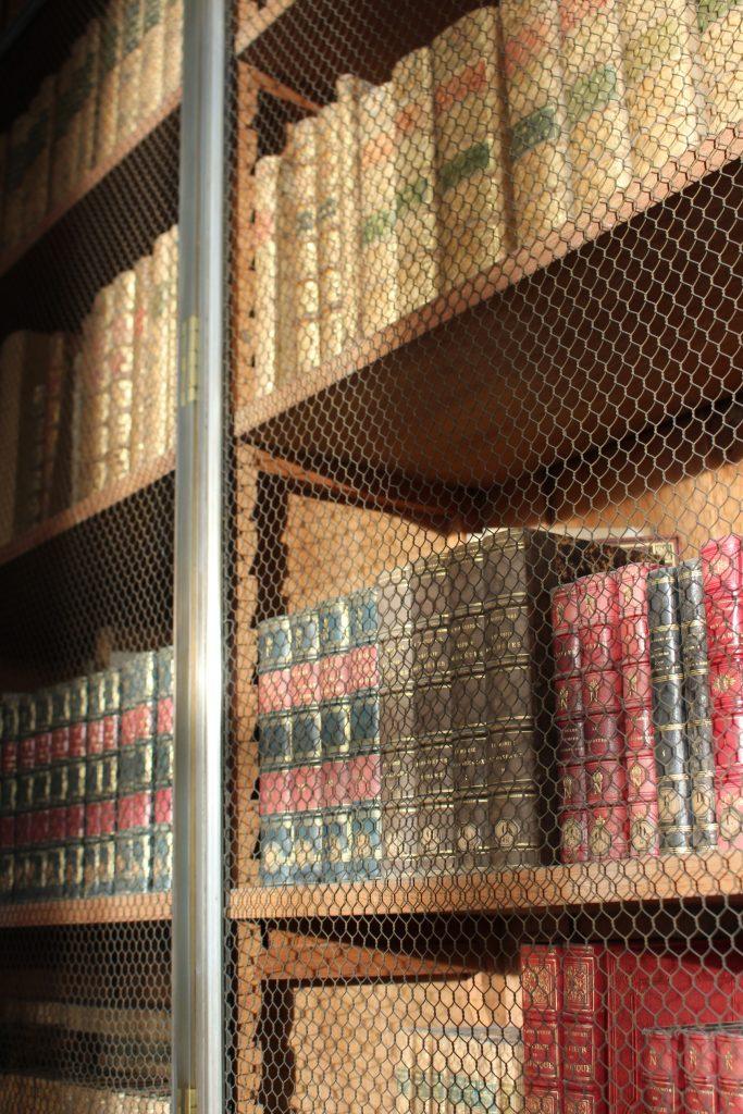 Détails de bibliothèque palatiale