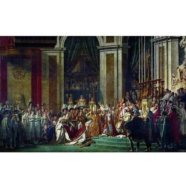 Affiche Le sacre de Napoléon 1er et le couronnement de l'impératrice Joséphine