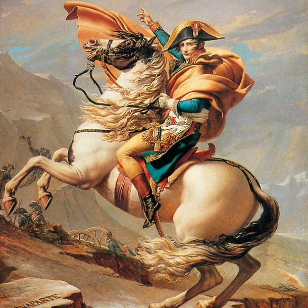 Affiche Bonaparte au Grand-Saint Bernard par Jacques Louis David