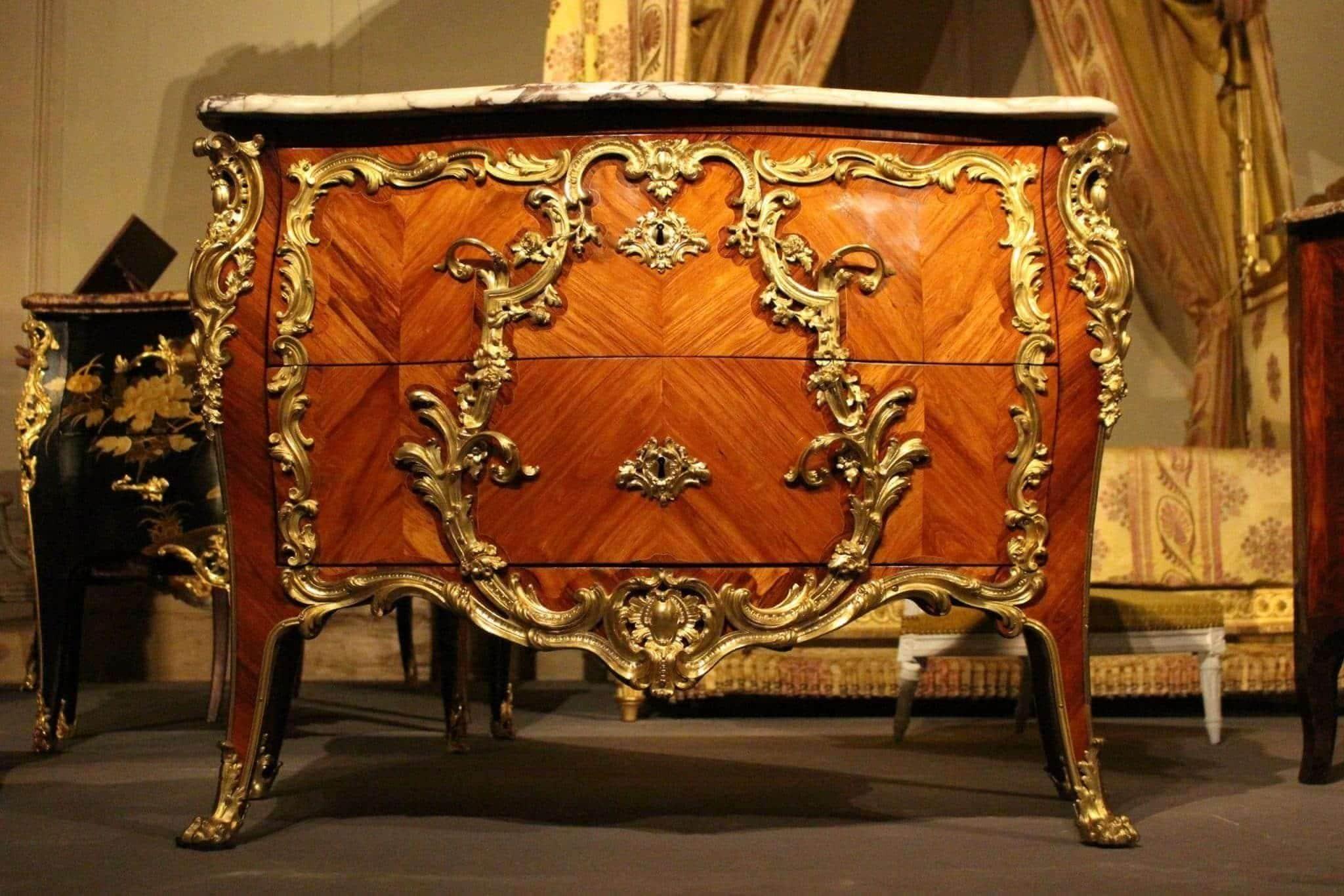 Commode de Louis XV du château de Fontainebleau